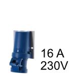 Wandstecker & Kupplung 16A 230V