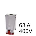 Wandstecker & Kupplung 63A 400V