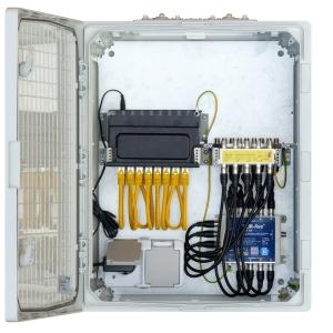 Antennenschrank vormontiert LAN- und SAT-Verteiler jeweils bis zu 8 Teilnehmer