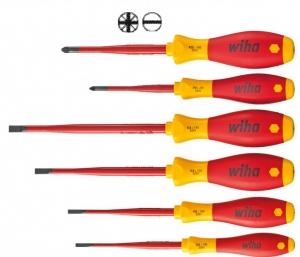 Wiha Schraubendreher Set 6 tlg. SoftFinish ® electric slimFix 3201 ZK6
