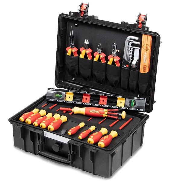 Wiha Werkzeugkoffer 34-tlg. Basic Set L Ausbildungskoffer Elektriker