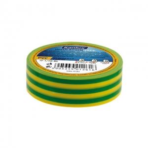PVC-Isolierband 19mm IT-1/20-Y/GN 20 m Rolle grün gelb