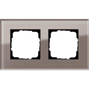 Gira Rahmen 0212122 2fach Esprit Glas umbra
