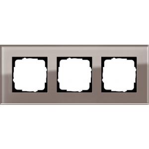 Gira Rahmen 0213122 3fach Esprit Glas umbra