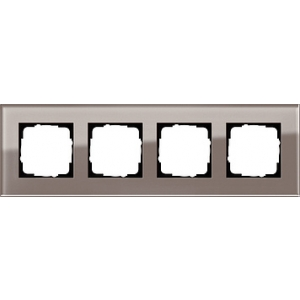 Gira Rahmen 0214122 4fach Esprit Glas umbra