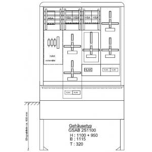Zähleranschlußsäule (5 Zähler / ohne TSG) 08.00.1P51