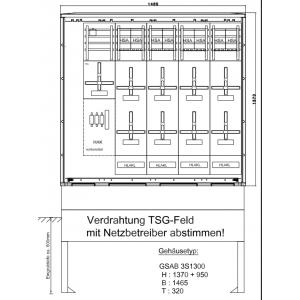 Zähleranschlußsäule (8 Zähler / TSG) 08.00.1P8