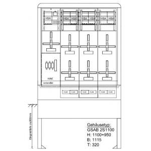 Zähleranschlusssäule (6Zähler / TSG) NH00-Vorsicherung 09.00.1P6HSA