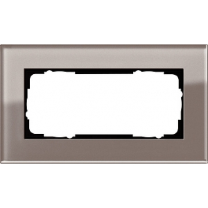 Gira Rahmen 1002122 2fach Esprit Glas umbra