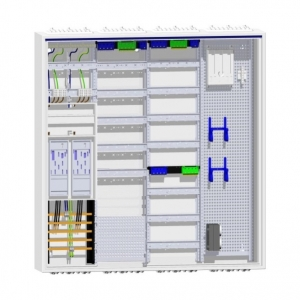 Hager Zählerschrank 2 eHZ Zähler und 144TE Verteilung mit APZ und Multimedia