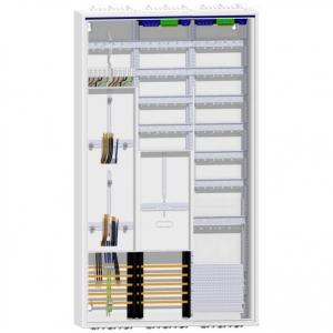 Hager Zählerschrank 2 Dreipunkt Zähler TSG mit 120TE Verteilung und APZ 1400mm