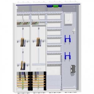 Hager Zählerschrank 3 Zähler TSG Verteiler mit APZ und Multimedia-Feld 1400 mm ZB54S