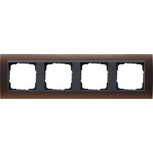 Gira Rahmen 021413 4fach Event dunkelbraun glänzend