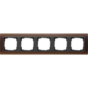 Gira Rahmen 021513 5fach Event dunkelbraun glänzend