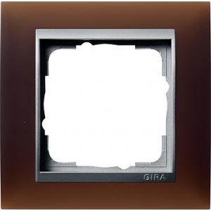 Gira Rahmen 021159 1fach Event dunkelbraun glänzend