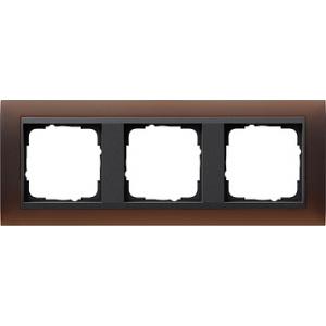 Gira Rahmen 021313 3fach Event dunkelbraun glänzend