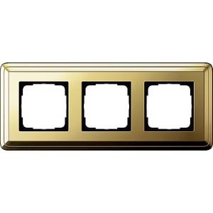 Gira Rahmen 0213631 3fach ClassiX Art messing