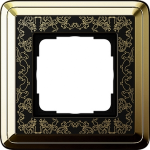 Gira Rahmen 0211672 1fach ClassiX Art messing/schwarz