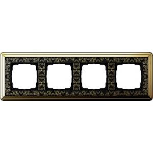 Gira Rahmen 0214672 4fach ClassiX Art messing/schwarz
