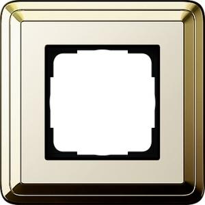 Gira Rahmen 0211633 1fach ClassiX Art messing/cremeweiß