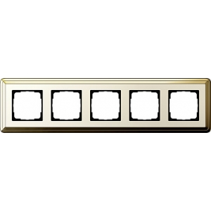 Gira Rahmen 0215633 5fach ClassiX Art messing/cremeweiß