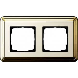 Gira Rahmen 0212633 2fach ClassiX Art messing/cremeweiß