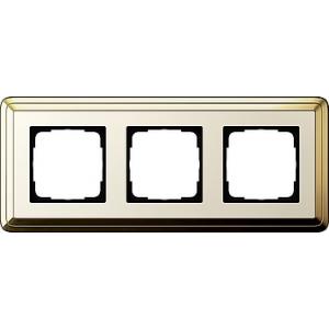 Gira Rahmen 0213633 3fach ClassiX Art messing/cremeweiß