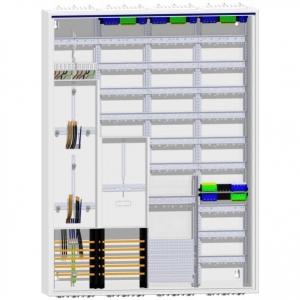 Hager Zählerschrank 2 Zähler TSG und 228TE Verteilung mit APZ 1400mm