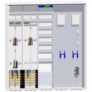 Hager Zählerschrank 3 Zähler TSG Verteiler mit APZ und Multimedia