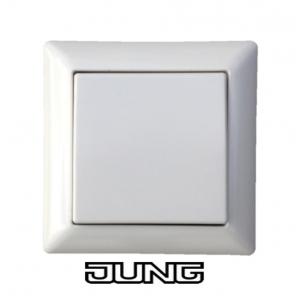Jung Dimmer Set AS500 mit Eltako Tast Dimmschalter für LED, Glühlampen und ESL