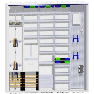 Hager Zählerschrank 2 Dreipunkt Zähler TSG 228TE Verteilung mit APZ und Multimedia