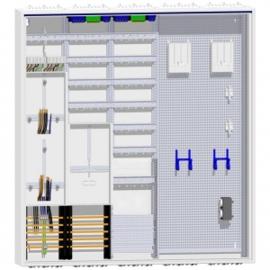 Hager Zählerschrank 2 Zähler TSG 120TE Verteilung mit APZ und Multimedia 1400mm