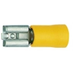 Flachsteckhülse verzinnt 750 4-6mm² / 6,3x0,8mm gelb