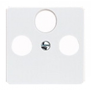 ELSO Zentralplatte 206034 SATAntennen 3Loch reinweiss