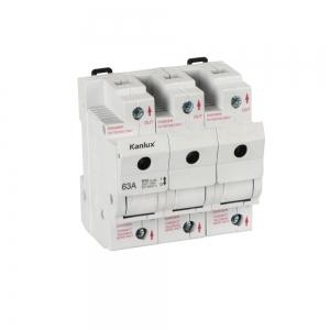 KANLUX Lasttrennschalter KSF02-63A-3P mit D02-Sicherung 63A