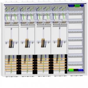 Zählerschrank 4Zähler 1100mm Verteiler 5feldrig