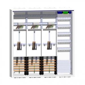 Hager Zählerschrank 3 Zähler Dreipunkt Verteiler mit APZ 1100mm Höhe