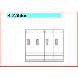 Hager Zählerschrank eHZ für 4 Zähler eHZ 950mm