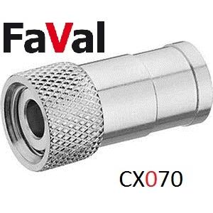 Kompressionsstecker Push-On F-Stecker CX070 #10