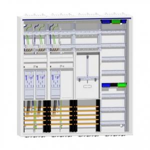 Zählerschrank 3 eHZ Zähler + Reserve + Tarifsteuergerätefeld + Verteilerfeld ZB34S