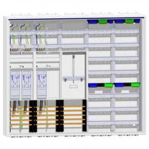 Zählerschrank 3 eHZ Zähler + Reserve + Tarifsteuergerätefeld + 2 x Verteilerfeld ZB35S