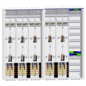 2x ZB53S Zählerschrank 10 Zähler Verteiler 1400mm