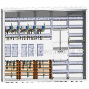 ABN eHZ Zählerschrank 5 Zähler + Tarifsteuergerätefeld + Verteiler