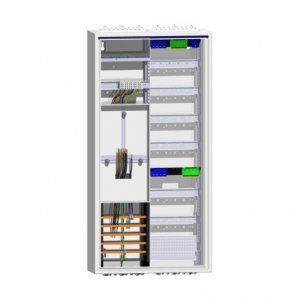 Hager Zählerschrank Komplettschrank 1Zähler Verteiler 5 reihig mit APZ-Bereich 1100mm