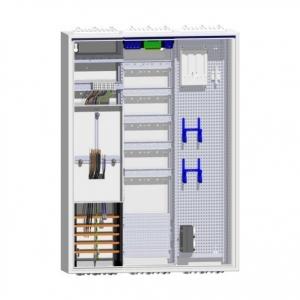 Zählerschrank 1 Dreipunkt-Zähler Verteiler 5-reihig mit APZ und Multimedia-Feld