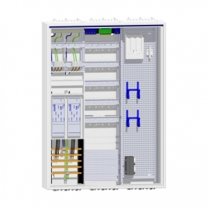 Hager Zählerschrank 2 eHZ-Zähler Verteiler mit APZ und Multimediabereich