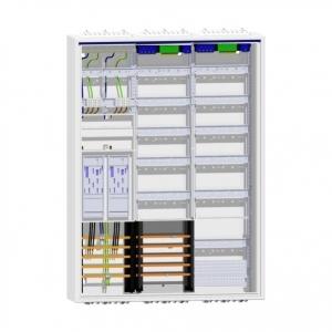 Hager Zählerschrank 2 eHZ Zähler 2x Verteiler mit APZ und SAS