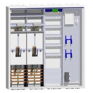 Hager Komplettschrank 2 Zähler Dreipunkt Verteiler 5-reihig mit APZ und Multimedia 1100mm