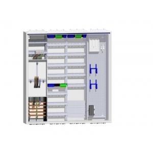 Komplettschrank 1 Zähler Verteiler 5-reihig mit APZ und Multimedia 1feldrig
