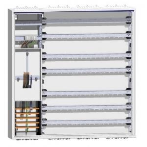 Hager Zählerschrank ZB34S 1 Zähler 3x Verteiler mit tiefliegender Hutschiene für Reihenklemmen252PLE